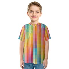 Background Colorful Abstract Kids  Sport Mesh Tee