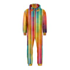 Background Colorful Abstract Hooded Jumpsuit (Kids)