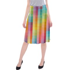 Background Colorful Abstract Midi Beach Skirt
