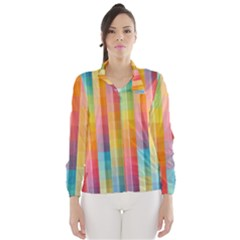 Background Colorful Abstract Wind Breaker (women)