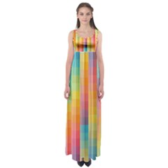 Background Colorful Abstract Empire Waist Maxi Dress