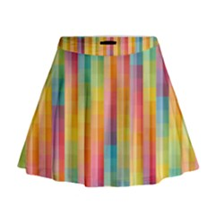 Background Colorful Abstract Mini Flare Skirt