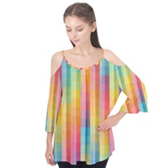 Background Colorful Abstract Flutter Tees