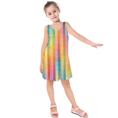 Background Colorful Abstract Kids  Sleeveless Dress