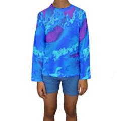 Sky pattern Kids  Long Sleeve Swimwear