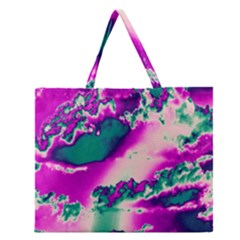Sky pattern Zipper Large Tote Bag