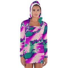 Sky pattern Women s Long Sleeve Hooded T-shirt