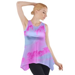 Sky pattern Side Drop Tank Tunic