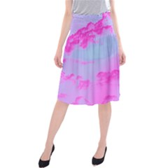 Sky pattern Midi Beach Skirt