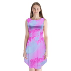 Sky pattern Sleeveless Chiffon Dress