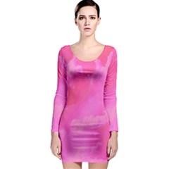 Sky pattern Long Sleeve Bodycon Dress