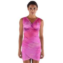 Sky pattern Wrap Front Bodycon Dress