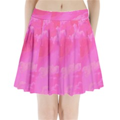 Sky pattern Pleated Mini Skirt