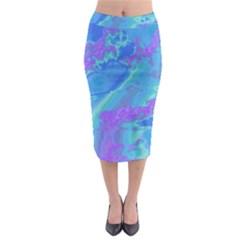Sky pattern Midi Pencil Skirt