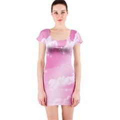 Sky pattern Short Sleeve Bodycon Dress