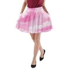 Sky pattern A-Line Pocket Skirt
