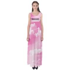 Sky pattern Empire Waist Maxi Dress