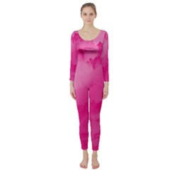 Sky pattern Long Sleeve Catsuit