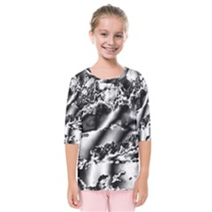 Sky Pattern Kids  Quarter Sleeve Raglan Tee