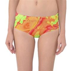 Sky pattern Mid-Waist Bikini Bottoms