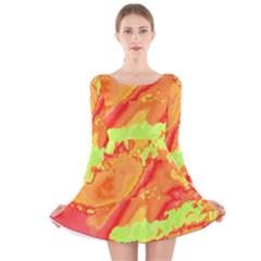 Sky pattern Long Sleeve Velvet Skater Dress