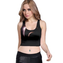Planet Space Abstract Racer Back Crop Top