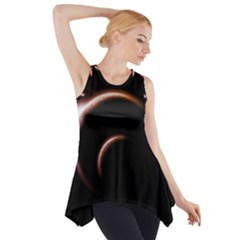 Planet Space Abstract Side Drop Tank Tunic
