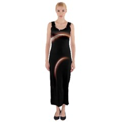 Planet Space Abstract Fitted Maxi Dress