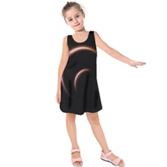 Planet Space Abstract Kids  Sleeveless Dress