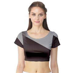 Course Gradient Color Pattern Short Sleeve Crop Top (tight Fit)