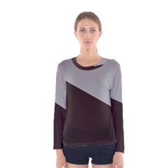 Course Gradient Color Pattern Women s Long Sleeve Tee