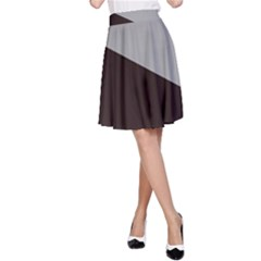 Course Gradient Color Pattern A-Line Skirt