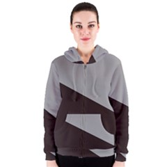 Course Gradient Color Pattern Women s Zipper Hoodie