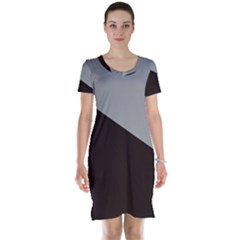 Course Gradient Color Pattern Short Sleeve Nightdress