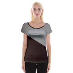 Course Gradient Color Pattern Women s Cap Sleeve Top