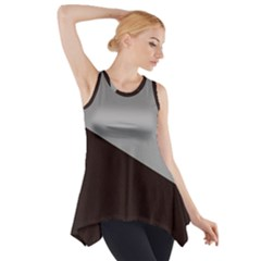 Course Gradient Color Pattern Side Drop Tank Tunic