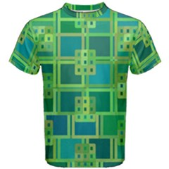 Green Abstract Geometric Men s Cotton Tee