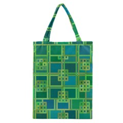 Green Abstract Geometric Classic Tote Bag