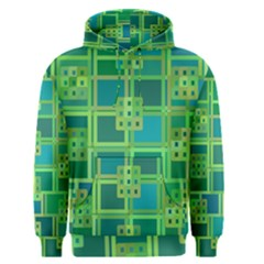 Green Abstract Geometric Men s Pullover Hoodie