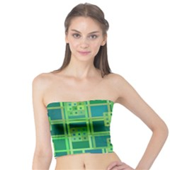 Green Abstract Geometric Tube Top
