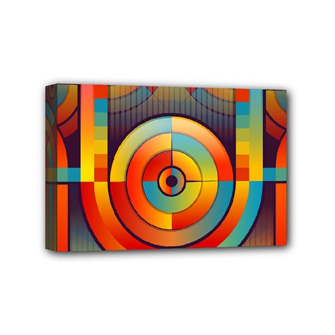 Abstract Pattern Background Mini Canvas 6  x 4