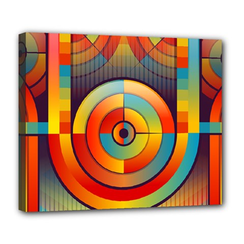 Abstract Pattern Background Deluxe Canvas 24  x 20