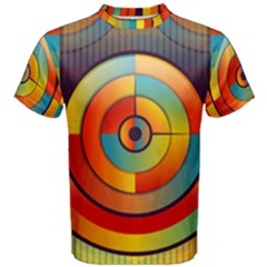Abstract Pattern Background Men s Cotton Tee