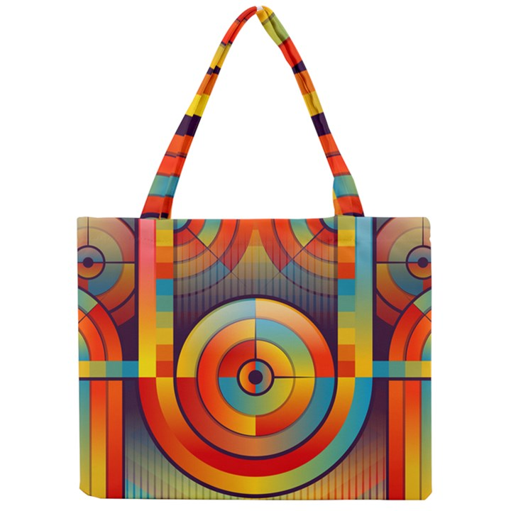 Abstract Pattern Background Mini Tote Bag