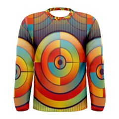 Abstract Pattern Background Men s Long Sleeve Tee