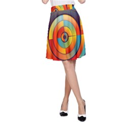 Abstract Pattern Background A-Line Skirt