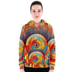 Abstract Pattern Background Women s Zipper Hoodie