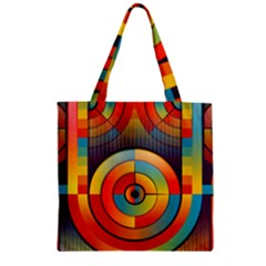 Abstract Pattern Background Zipper Grocery Tote Bag