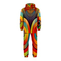 Abstract Pattern Background Hooded Jumpsuit (kids)