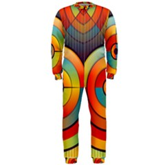 Abstract Pattern Background Onepiece Jumpsuit (men)